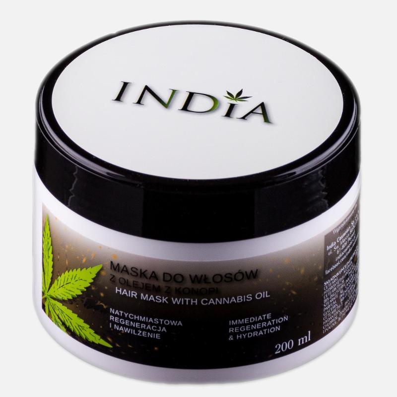 INDIA COSMETICS maska do włosów z olejem z konopi 200ml